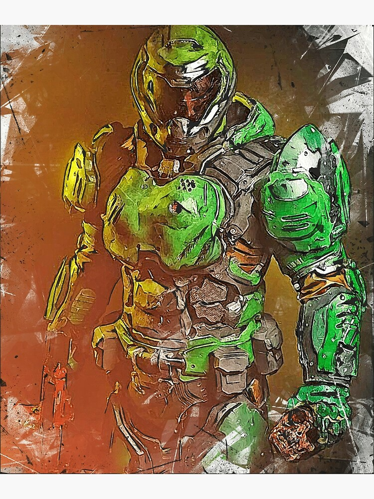 Doom Doomguy Greeting Card By Inspyrall Redbubble