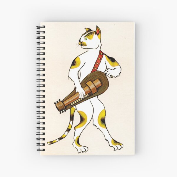 HURDY GURDY KITTY Spiral Notebook