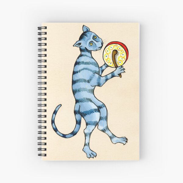 DRUMMER CAT Spiral Notebook