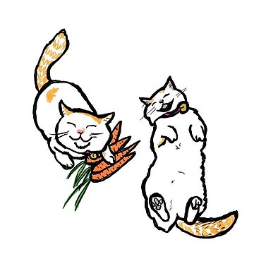 Happy Cat with a carrot by michli