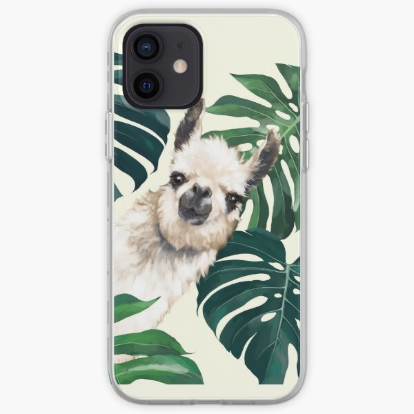 Sneaky Llama in Tropical Monstera  iPhone Soft Case