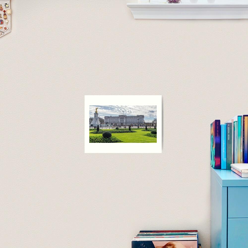 Buckingham Palace view, London Art Print