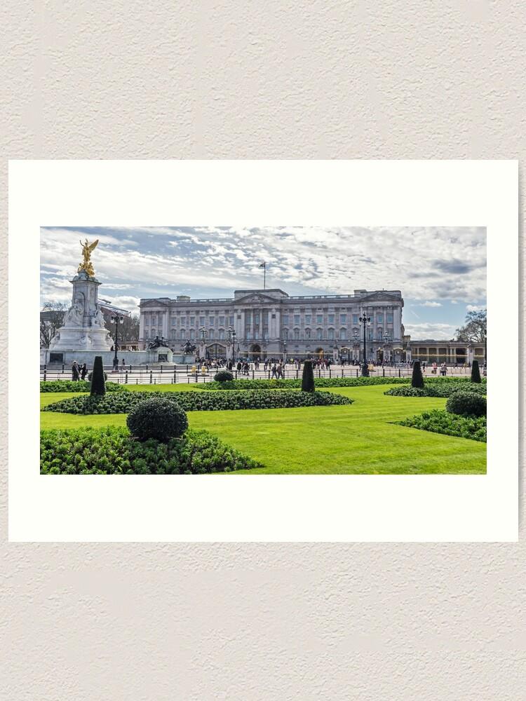 Alternate view of Buckingham Palace view, London Art Print