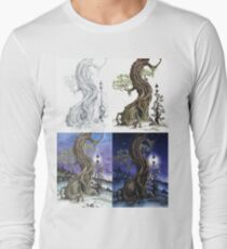 Sylvia and Her Lamp At Dusk Progression Long Sleeve T-Shirt