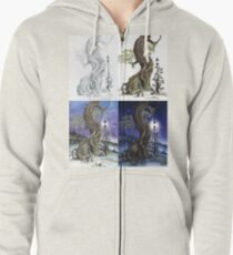 Sylvia and Her Lamp At Dusk Progression Zipped Hoodie