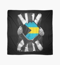 Bahamian Roots - Bahamas Flag Bahamian Great Britain Black And White Flag Ripped Effect - Gift For Bahamian Scarf