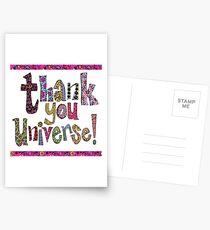 thank you universe .... Postcards