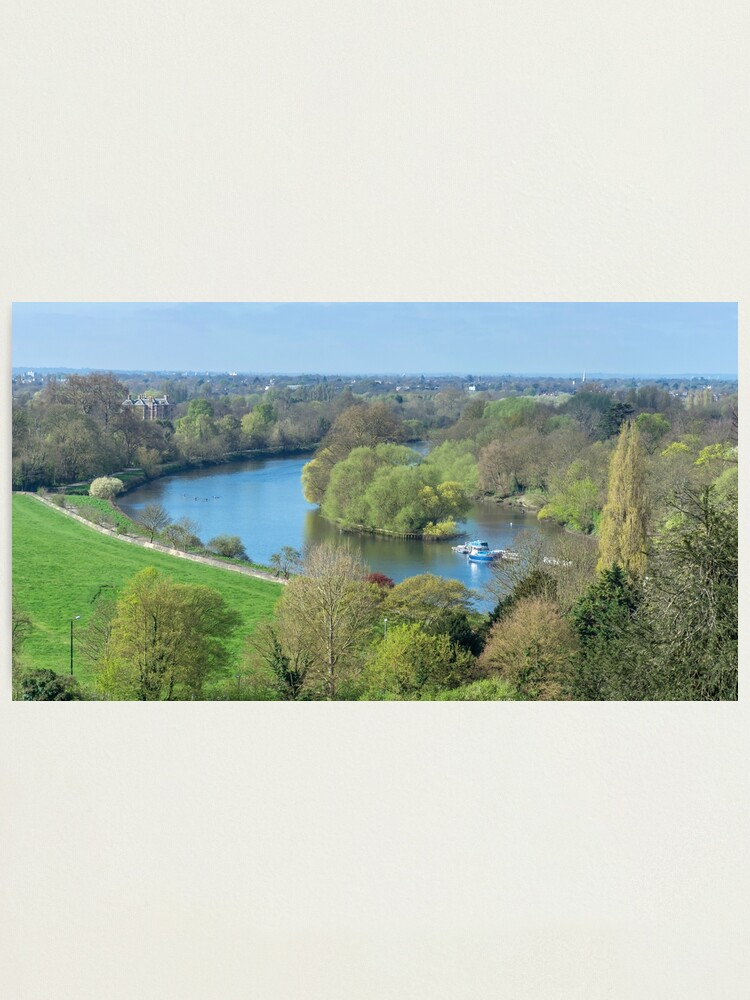 Alternate view of The view from Richmond Hill, London Photographic Print