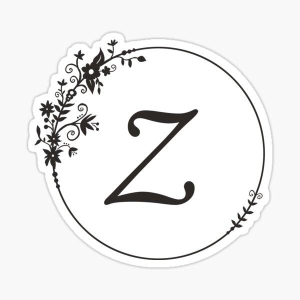 Initial Letter Z Sticker
