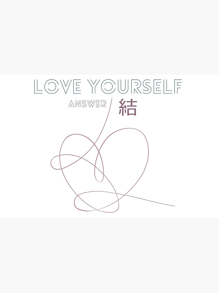 Bts Love Yourself Answer Logo Album Laptop Skin By Lojakshop Redbubble