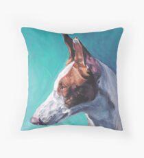 Ibizan Hound Fine Art Painting Throw Pillow