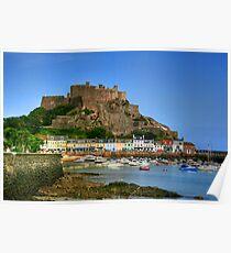 """""""Mount Orgueil Castle, Gorey Harbour"""" Poster"""