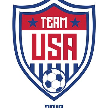 2018 USA United States Soccer National Team Soccer Tee  by allsortsmarket