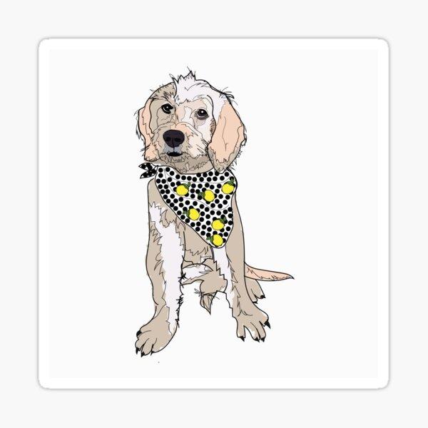 Lemon the Labradoodle Dog Sticker