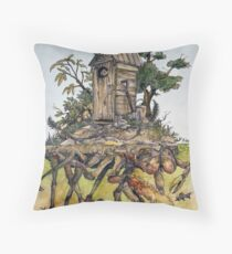 the crooked crustacean  Throw Pillow