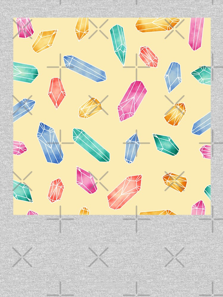 Crystals pattern - Yellow by PrintablesP