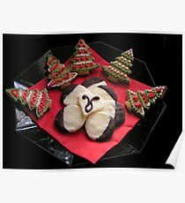 Gingerbread Christmas Trees & Mint Creams Poster