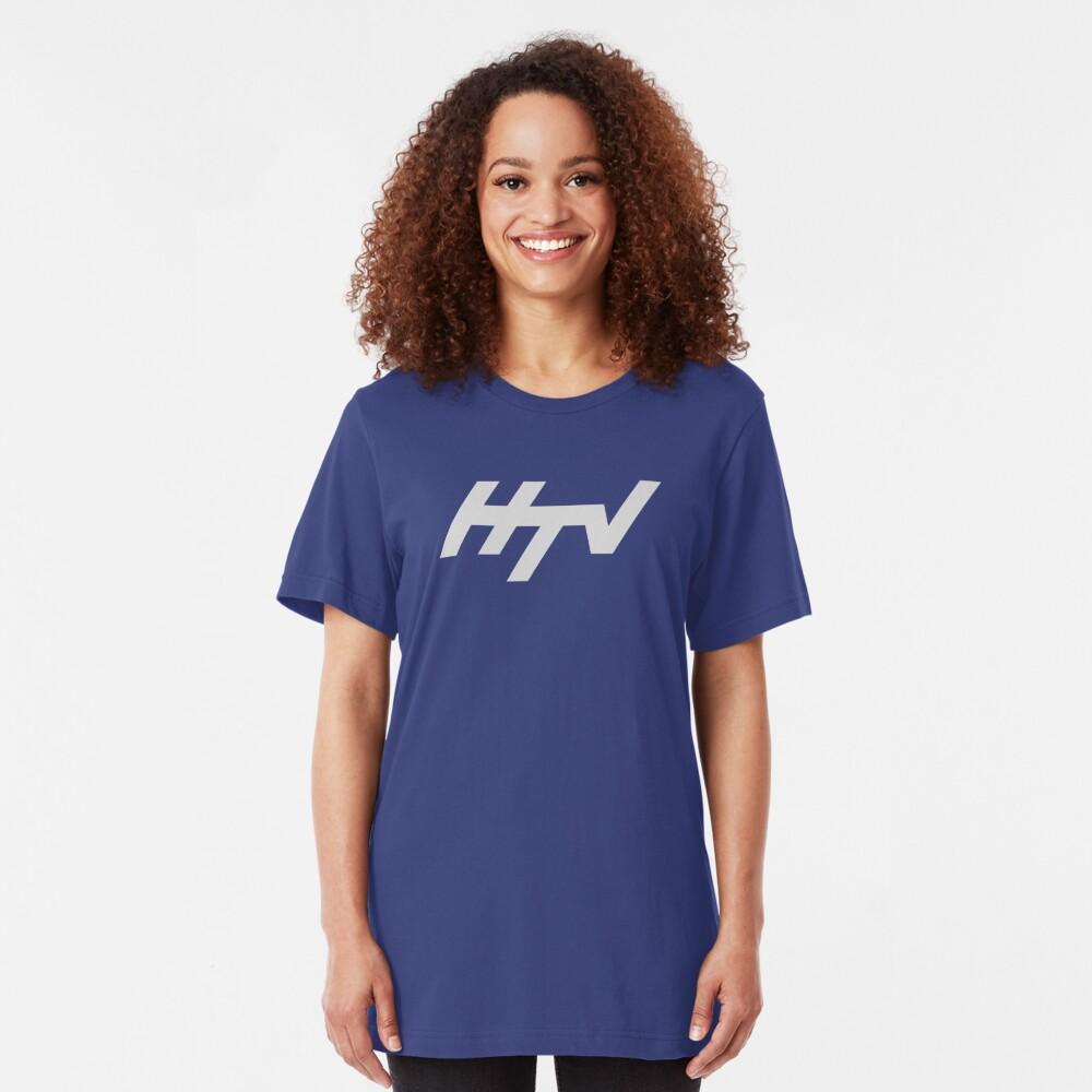 HTV Harlech Television regional ident logo Slim Fit T-Shirt