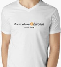 Owns Whole Bitcoin... true story Men's V-Neck T-Shirt