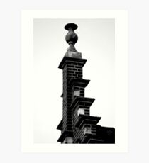 Up on the roof Art Print