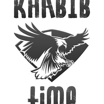 Khabib Time Nurmagomedov Eagle MMA Fan Art T-shirt by vicekingwear