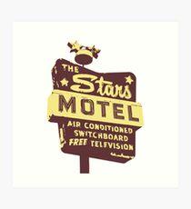 Seeing Stars ... Motel ... (brown) Art Print