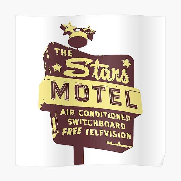 Seeing Stars ... Motel ... (brown) Poster