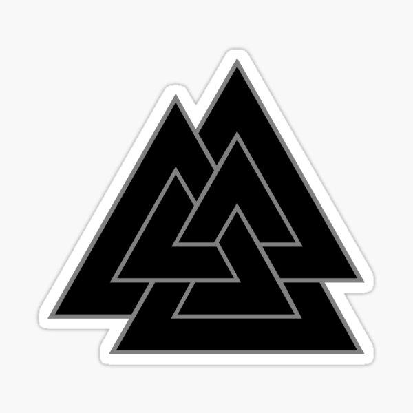 Valknut - Black and Grey Sticker