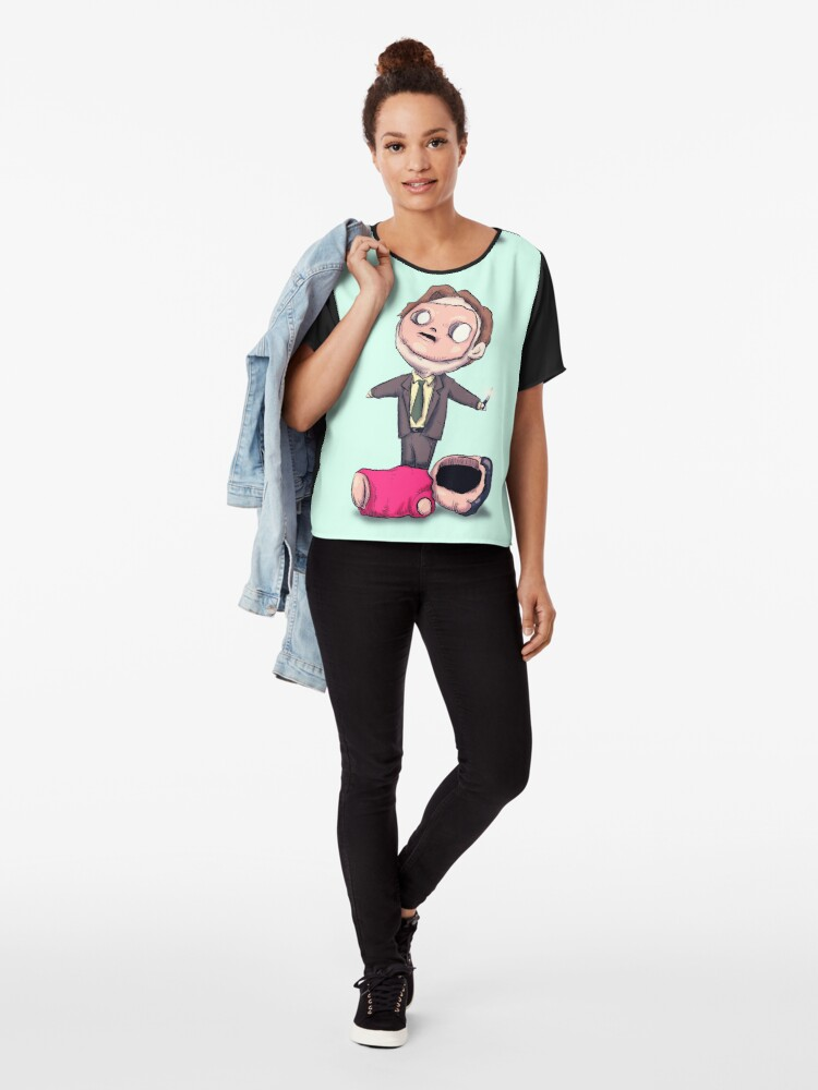 Alternate view of First Aid Training  Chiffon Top