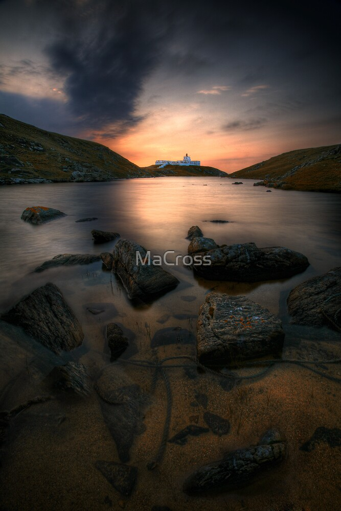 Strathy Point Lighthouse, Caithness, Scotland by Martina Cross