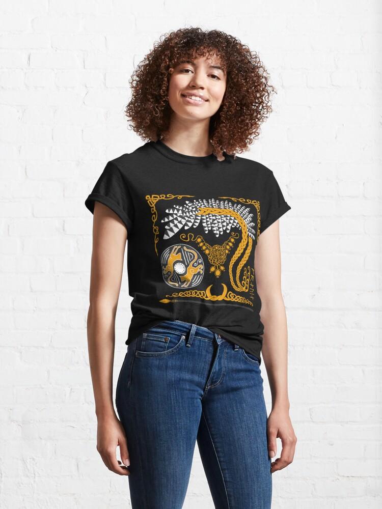 Alternate view of Freyja - Gold Classic T-Shirt