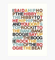 Rapper's Delight - Sugarhill Gang Art Print