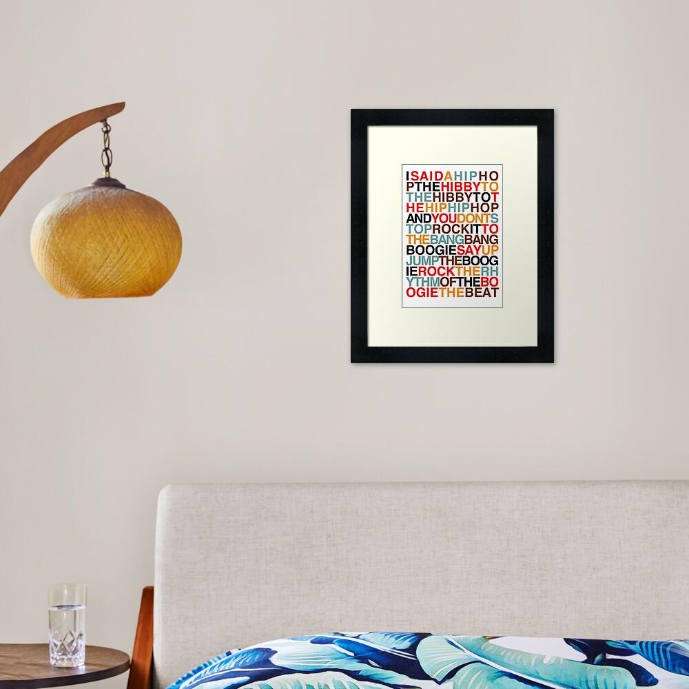 Rapper's Delight - Sugarhill Gang Framed Art Print
