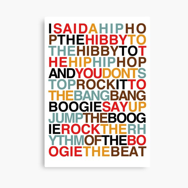 Hip Hop Rappers Delight Print Wall Art Pictures Gifts Coloured Graffiti