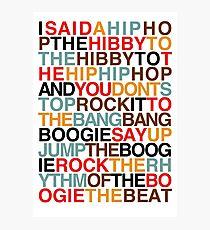 Rappers Freude - Sugarhill Gang Fotodruck