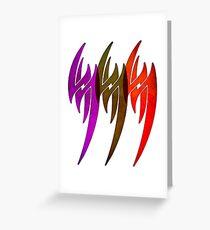 Triple Tekken Jin Kazama mk1 by Eye Voodoo Greeting Card