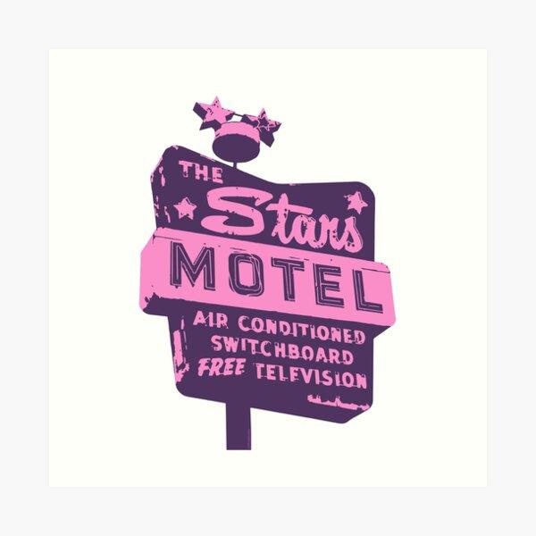 Seeing Stars ... Motel ... (Purple) Art Print