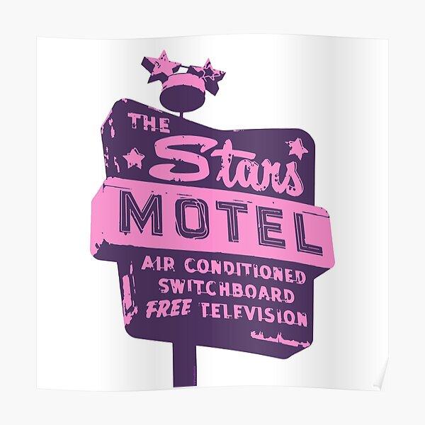 Seeing Stars ... Motel ... (Purple) Poster