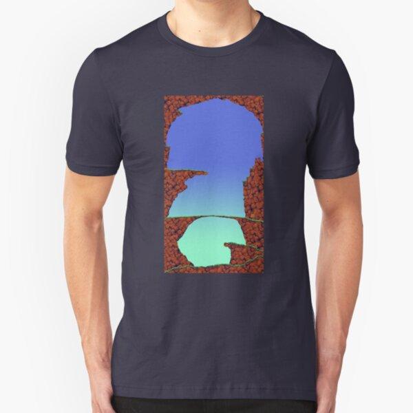 Blue Cavern (Worms 1) - ohms' Custom Worms Armageddon Level Slim Fit T-Shirt