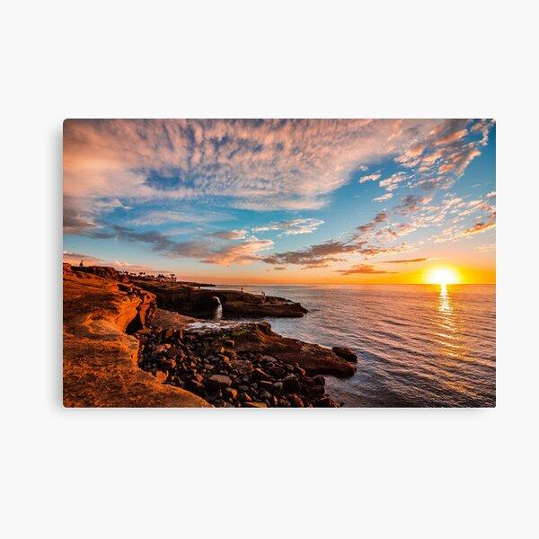 Acantilados de la puesta del sol de San Diego Lienzo