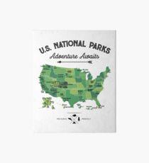 National Park Map Vintage T Shirt - All 59 National Parks Gifts T-shirt Men Women Kids Art Board