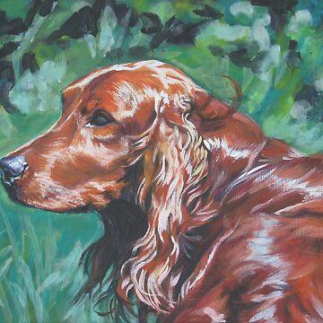 Irish Setter Fine Art Painting by lashepard