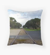 Waiting for a Train Throw Pillow