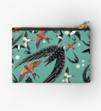 Swallows and swift pattern (Turquoise) Bolso de mano