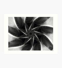 Gray Kaleidoscope Art 6 Art Print