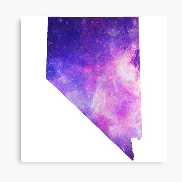 Purple Galaxy Nevada Canvas Print