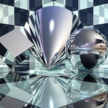 Cube Cone Sphere by hugh023