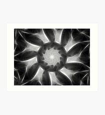 Gray Kaleidoscope Art 7 Art Print