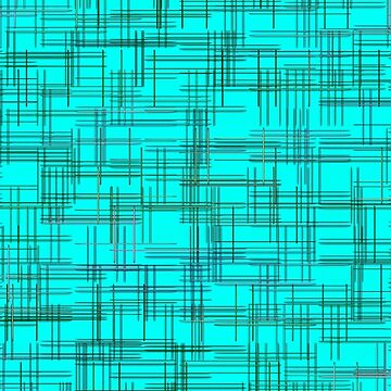 Turquoise abstract grid and striped pattern.  by IaroslavB