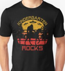 Kindergarten Rocks Bigfoot Unicorn UFO Back To School Unisex T-Shirt